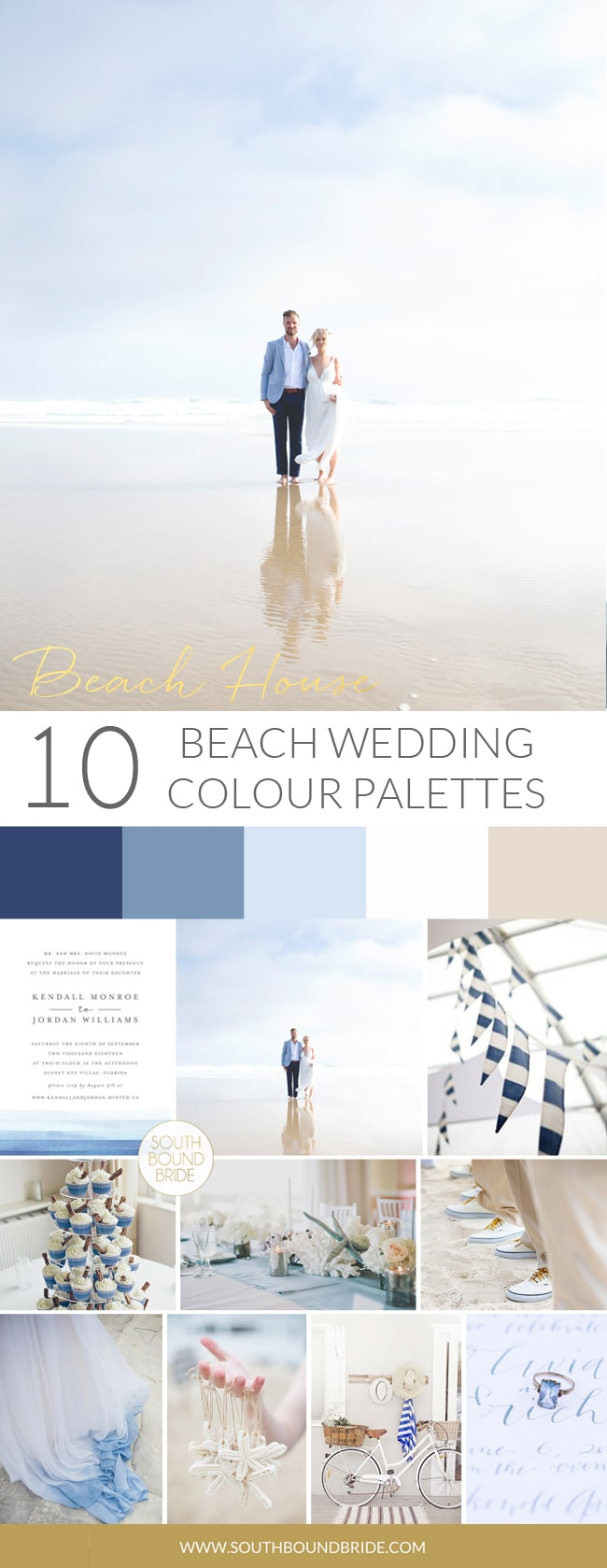 Beach House Wedding Palette