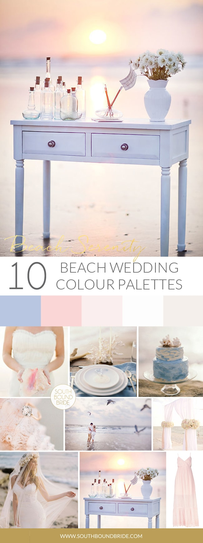 Beach Serenity Wedding Palette | SouthBound Bride