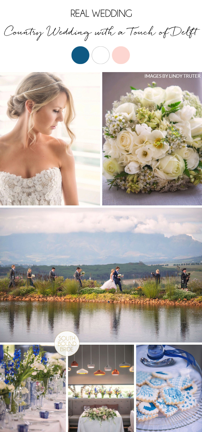 Country Wedding with a Touch of Delft by Lindy Truter | SouthBound Bride
