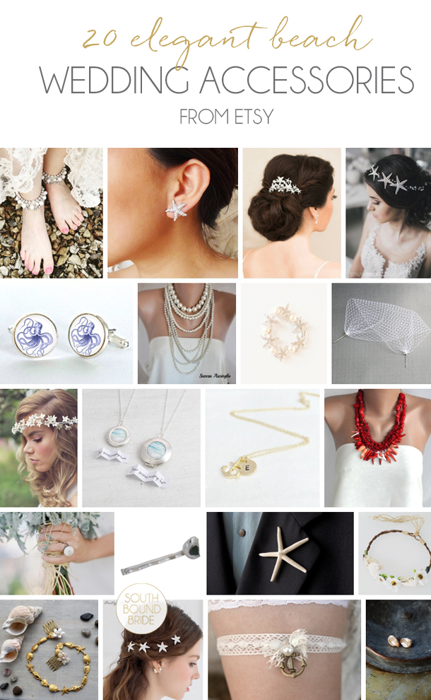 20 Beach Wedding Accessories from Etsy | SouthBound Bride
