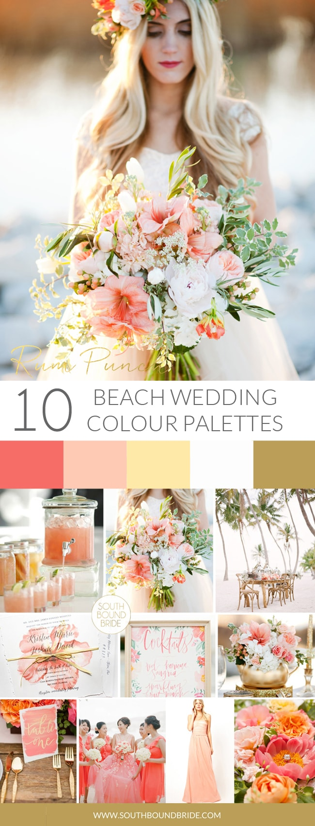 Rum Punch Beach Wedding Palette | SouthBound Bride