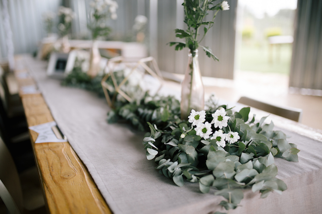 Rustic Glam Bridal Shower Table Decor | Credit: Anike Benade