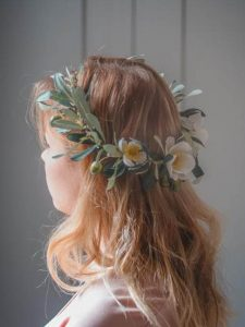 rustic bridal shower flower crown
