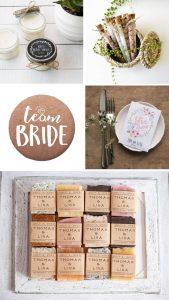 rustic bridal shower favors