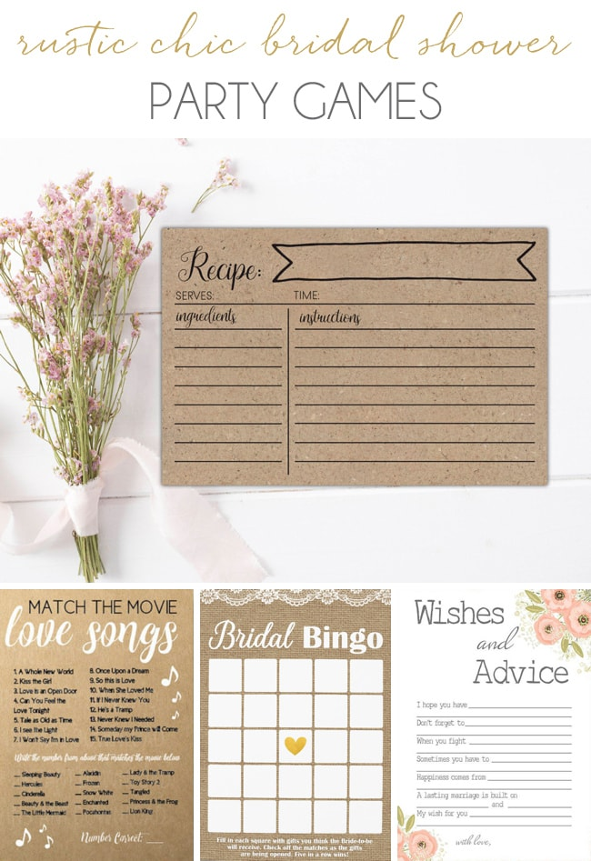 Get the Look: Rustic Chic Bridal Shower (Party Games)   SouthBound Bride