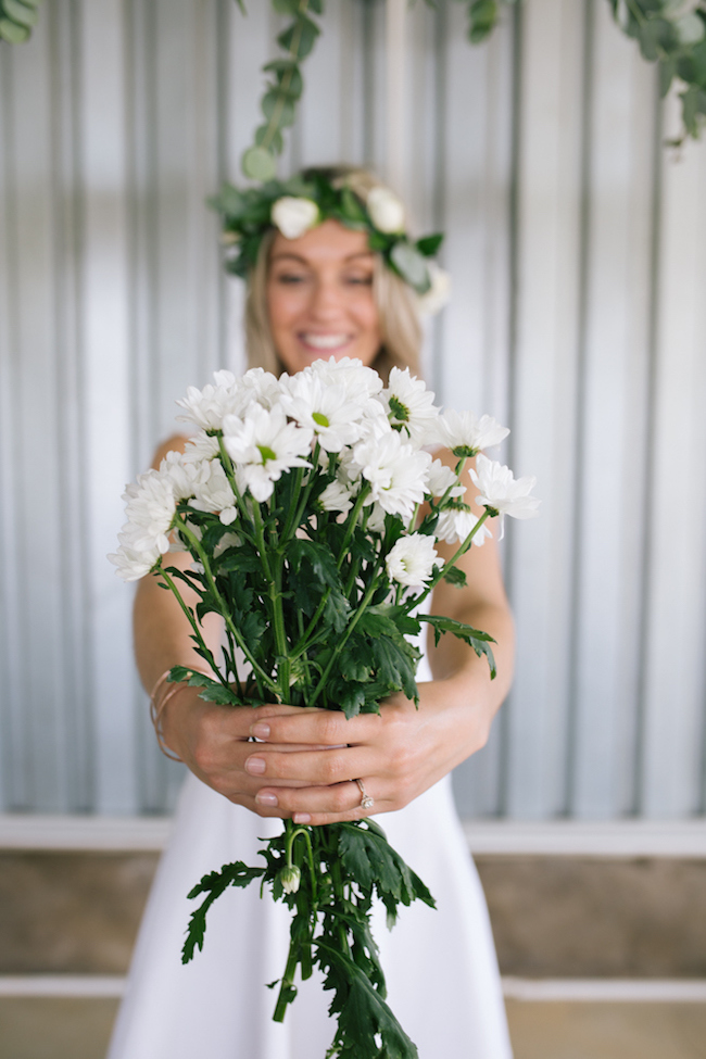 White Daisy Bouquet | Credit: Anike Benade