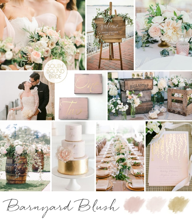 Barnyard Blush Wedding Inspiration Board | SouthBound Bride