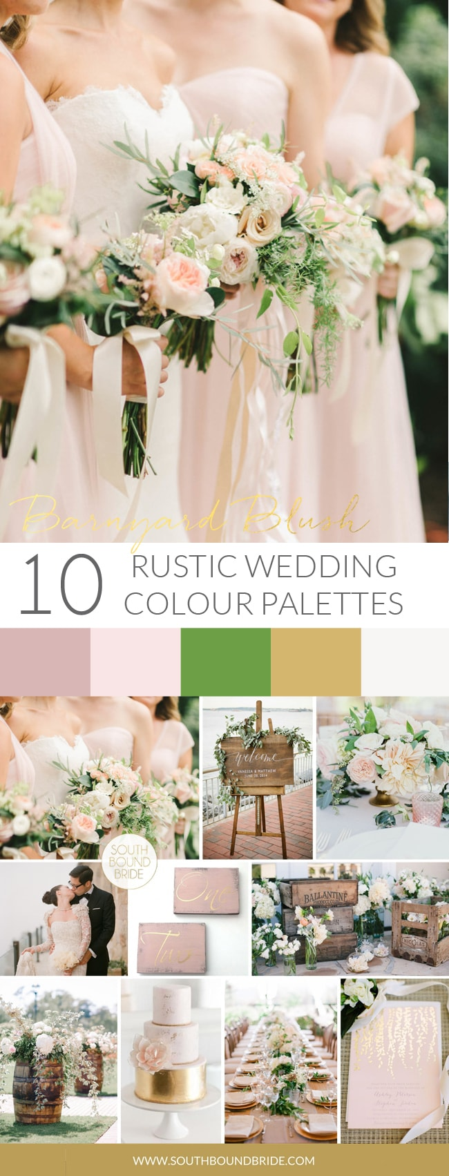 Barnyard Blush Rustic Wedding Palette | SouthBound Bride