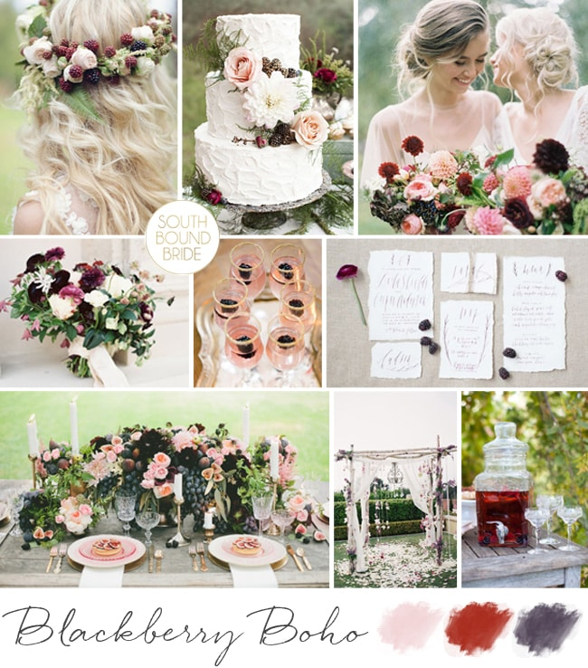 Blackberry Boho Wedding Inspiration | SouthBound Bride