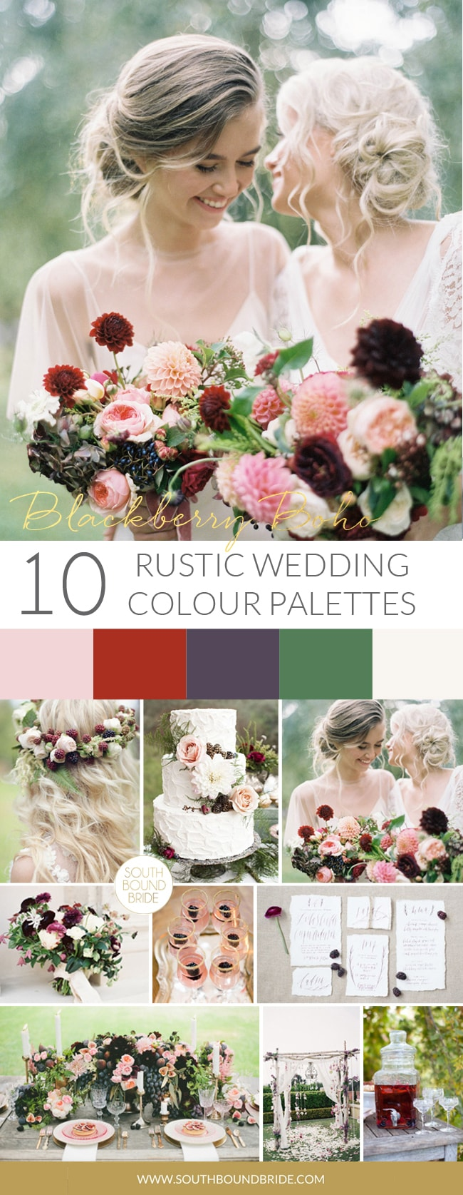 Blackberry Boho Rustic Wedding Palette | SouthBound Bride