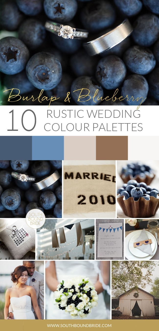 Burlap & Blueberry Rustic Wedding Palette | SouthBound Bride