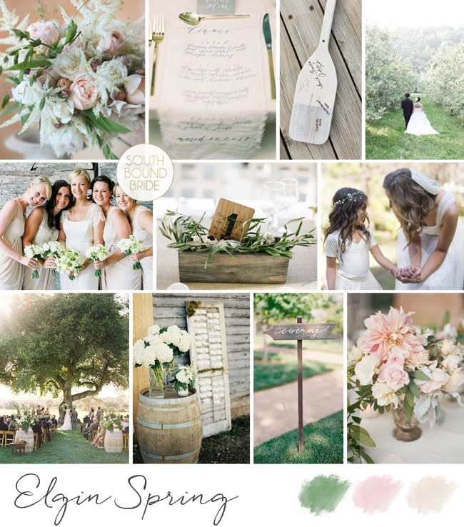 Rustic Romantic Inspiration Board
