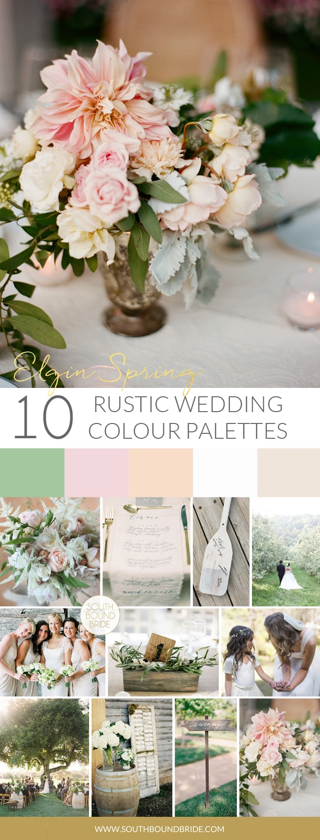 Elgin Spring Rustic Wedding Palette | SouthBound Bride