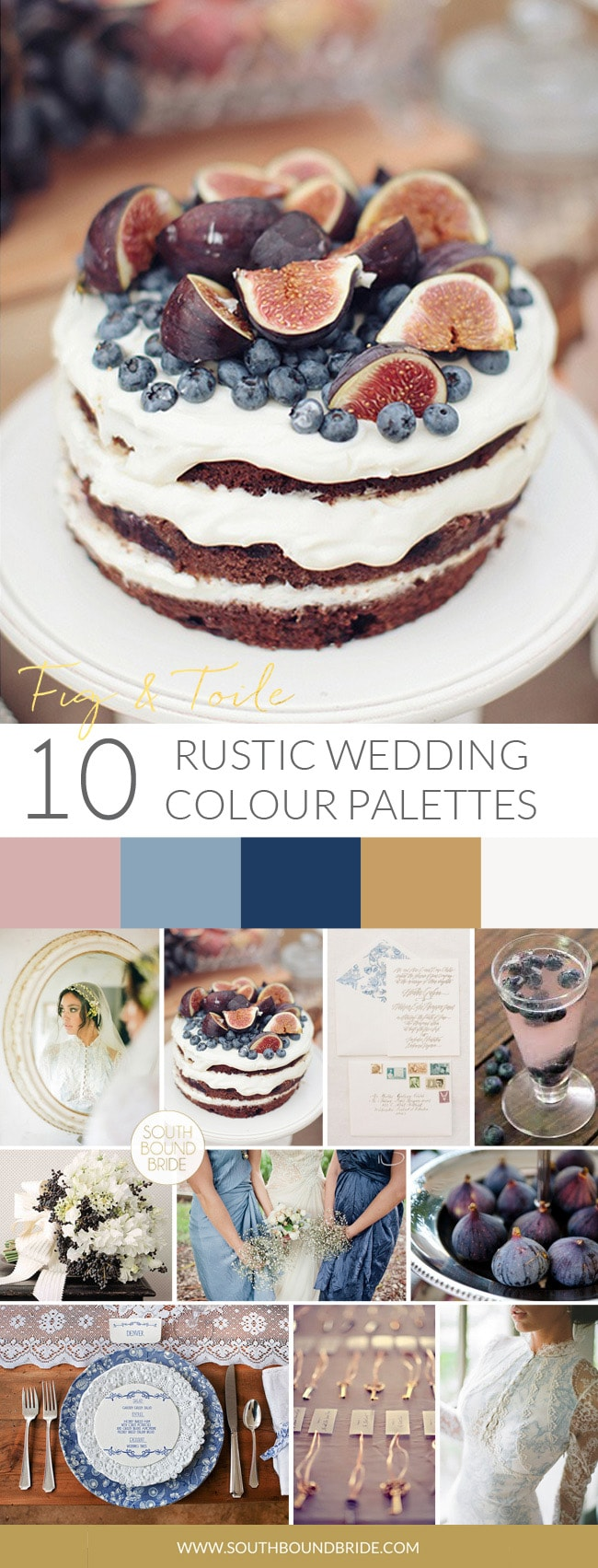 Fig & Toile Rustic Wedding Palette | SouthBound Bride