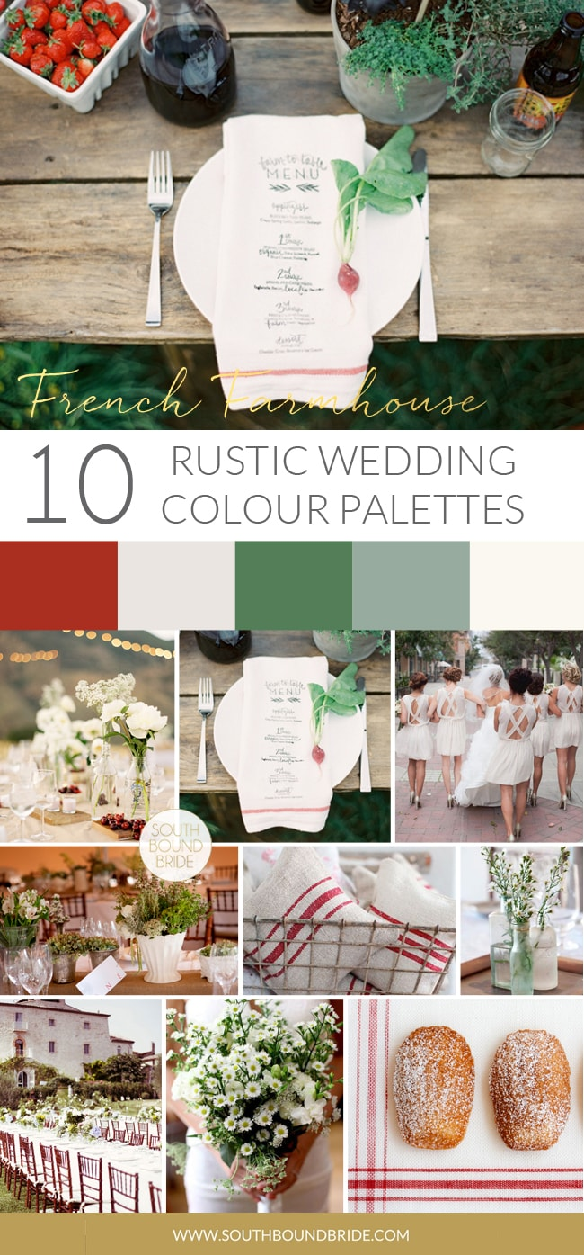 French Farmhouse Rustic Wedding Palette | SouthBound Bride