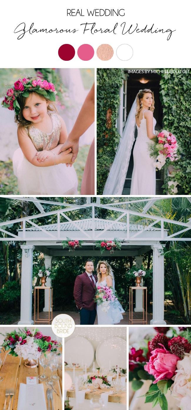 Glamorous Floral Wedding by Michelle du Toit   SouthBound Bride