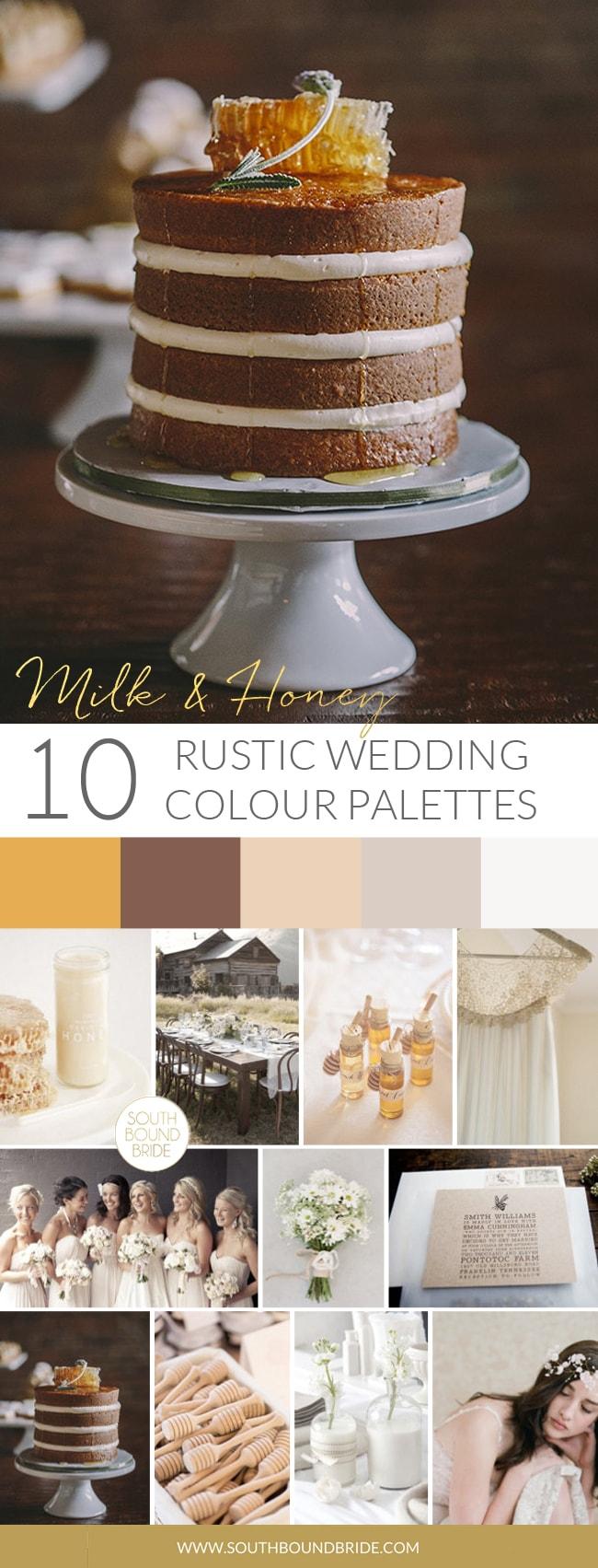 Milk & Honey Fall Wedding Palette | SouthBound Bride