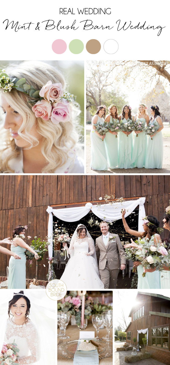 Mint & Blush Barn Wedding by As Sweet As Images | SouthBound Bride