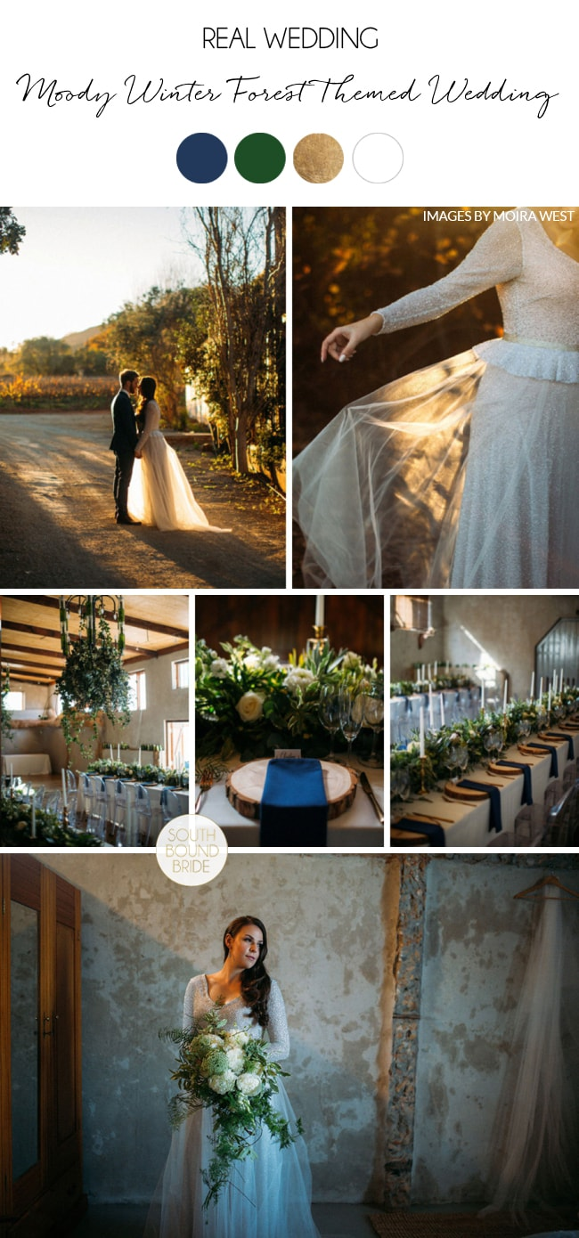 Moody Winter Forest Themed Wedding by Moira West   SouthBound Bride