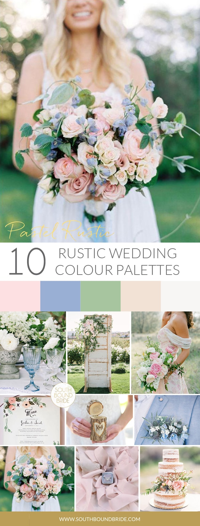 Pastel Rustic Wedding Palette | SouthBound Bride