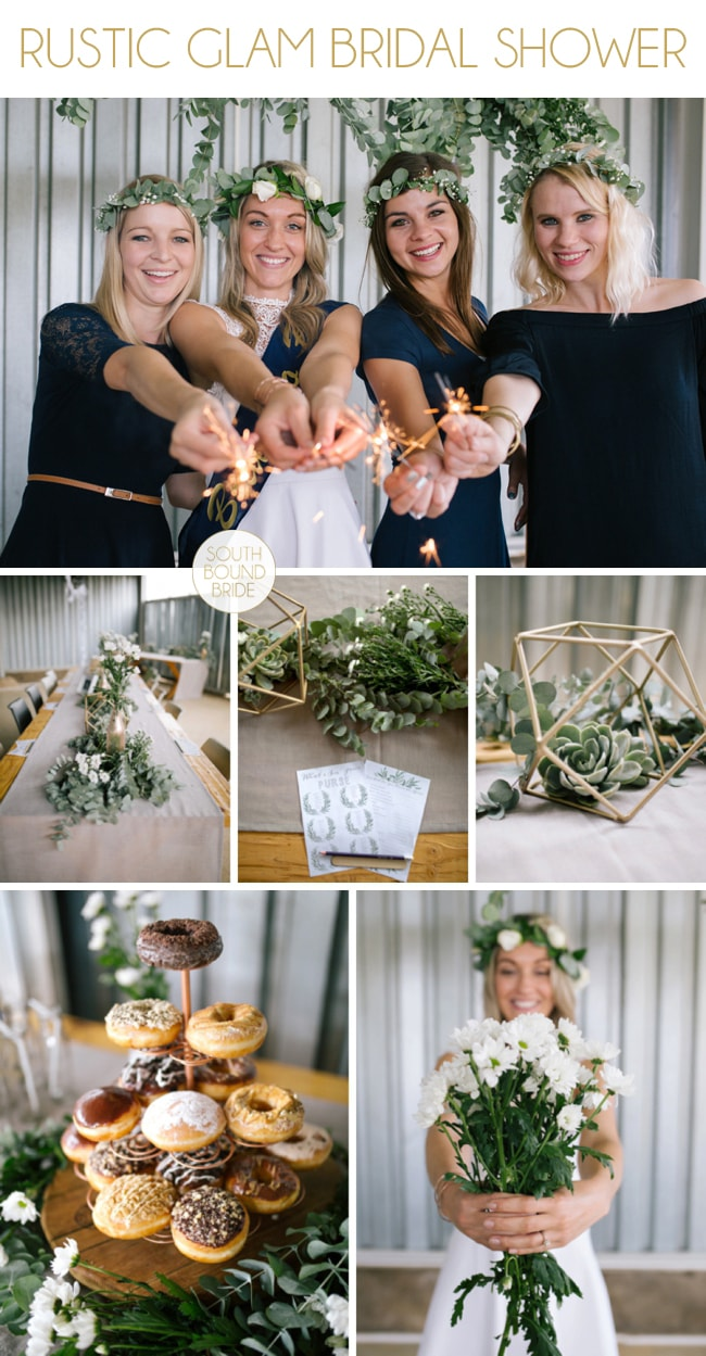 Rustic Glam Bridal Shower by Anike Benade | SouthBound Bride