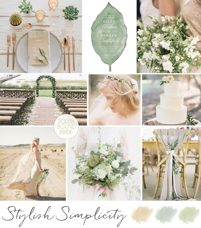 Stylish Simplicity Wedding Inspiration Board | SouthBound Bride