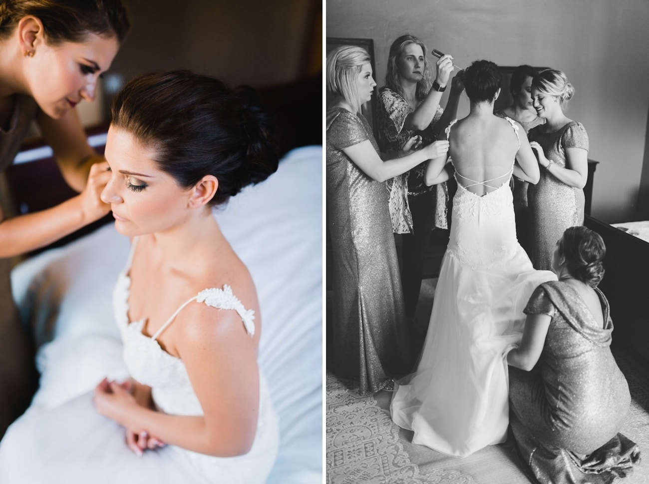 Bride getting ready | Credit: Matthew Carr