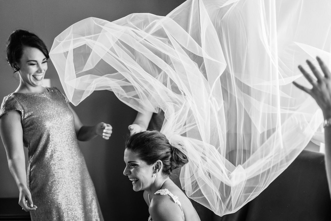 Wedding moment with veil | Credit: Matthew Carr
