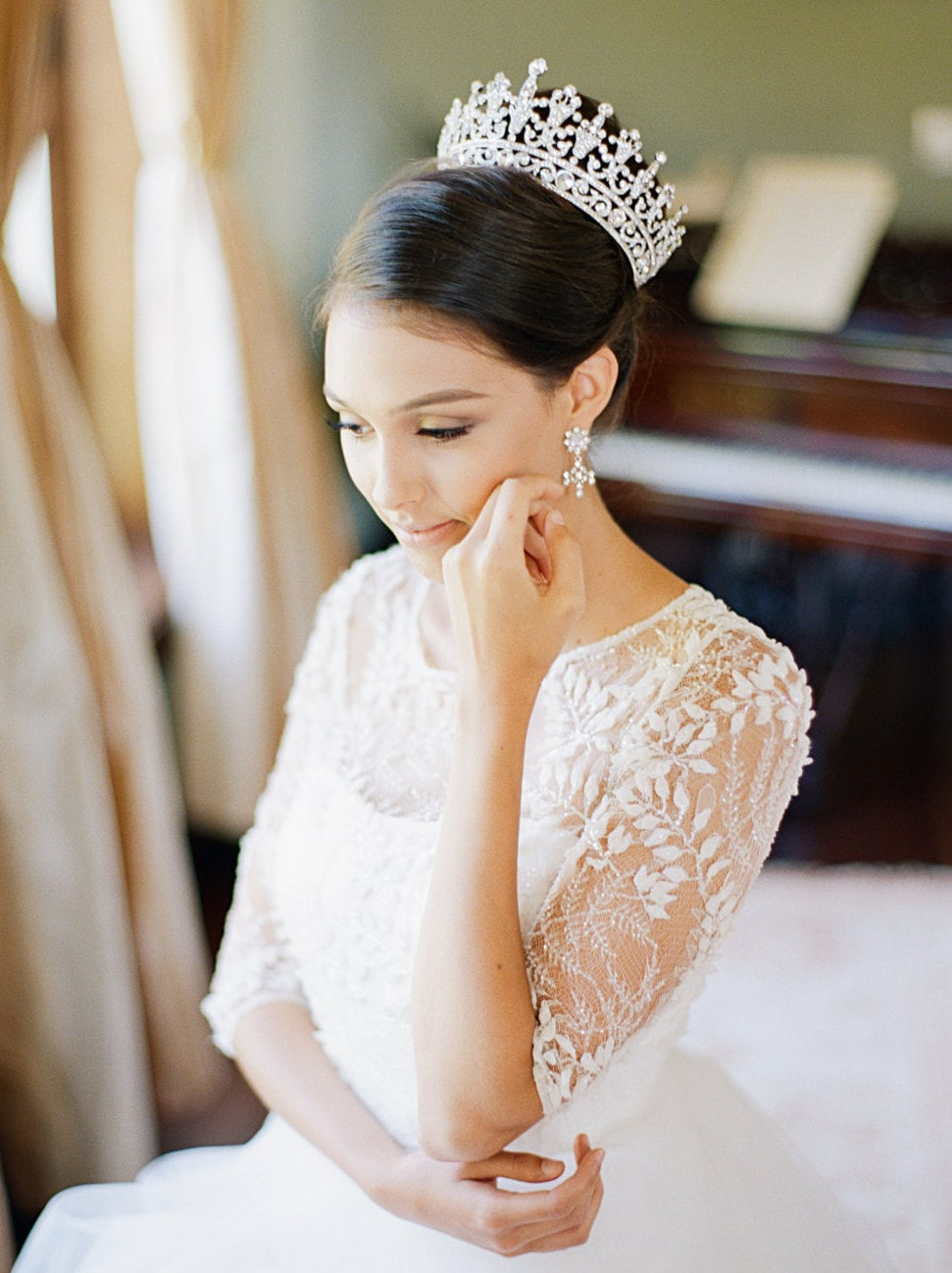 Fairytale bridal crowns tiaras from eden luxe bridal by southbound b portia silver bridal diadem junglespirit Gallery