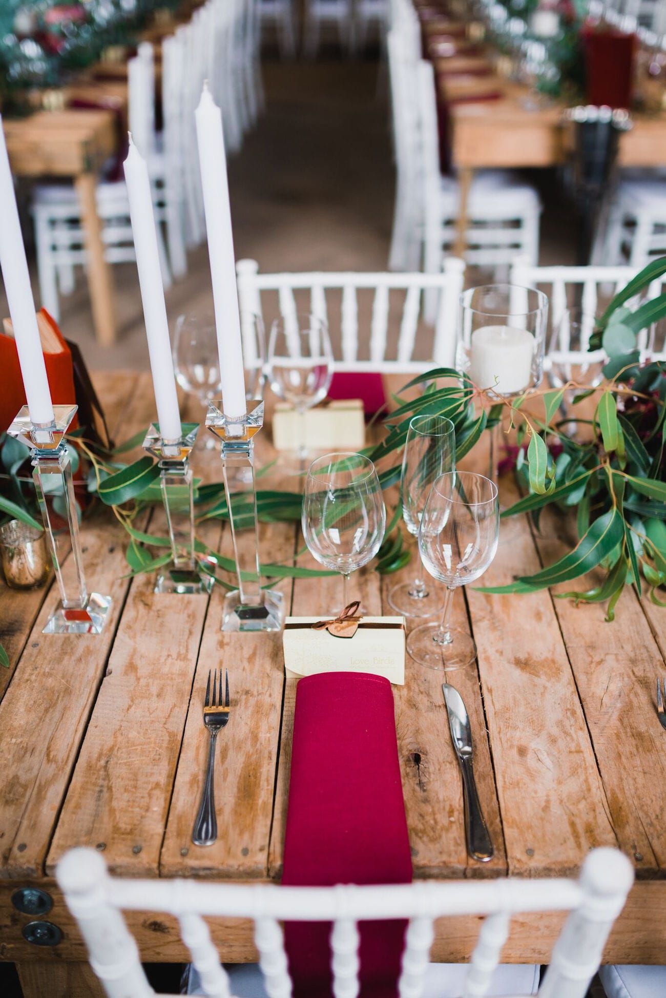 Rustic wood table place setting | Credit: Matthew Carr