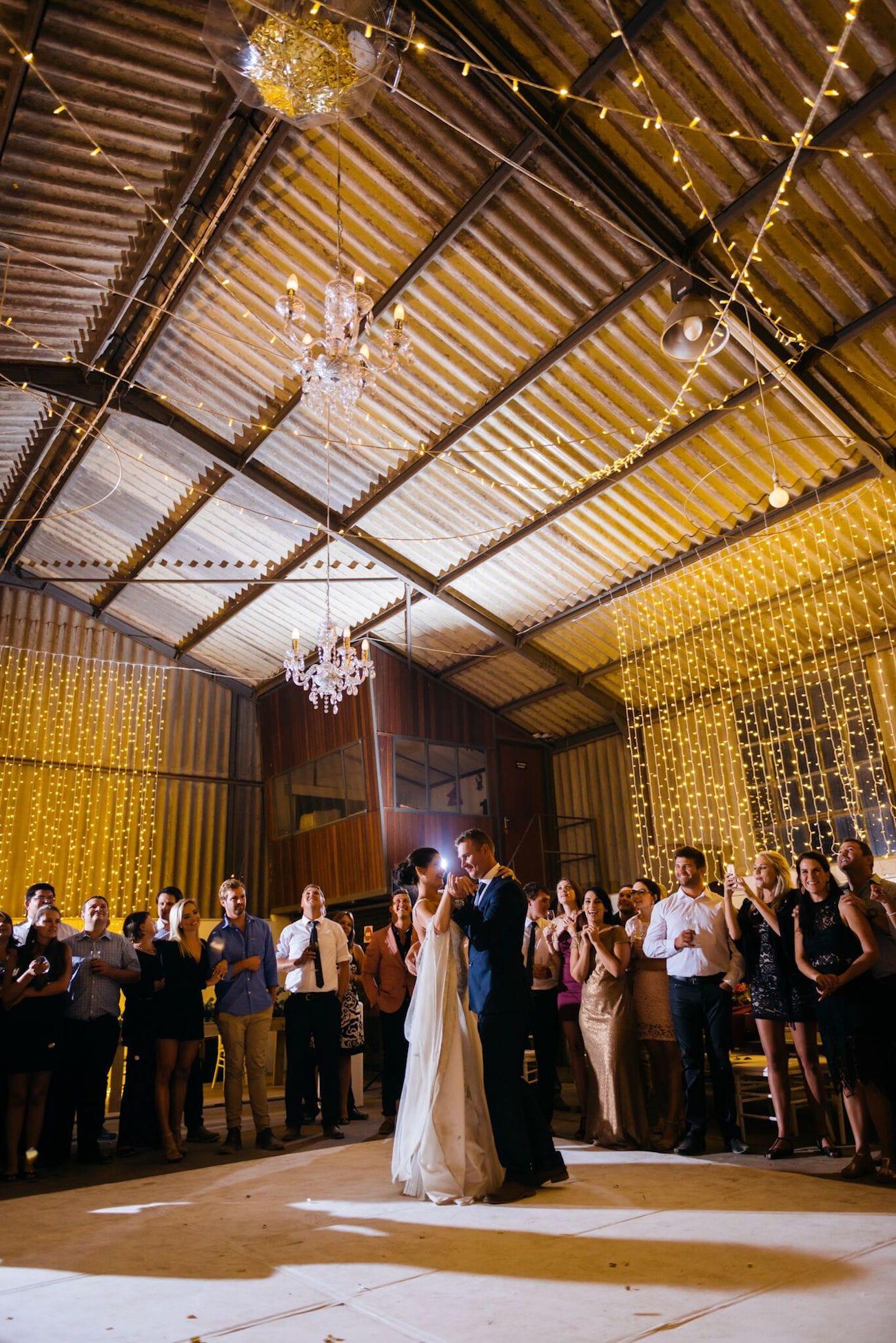 Rustic barn wedding first dance | Credit: Matthew Carr