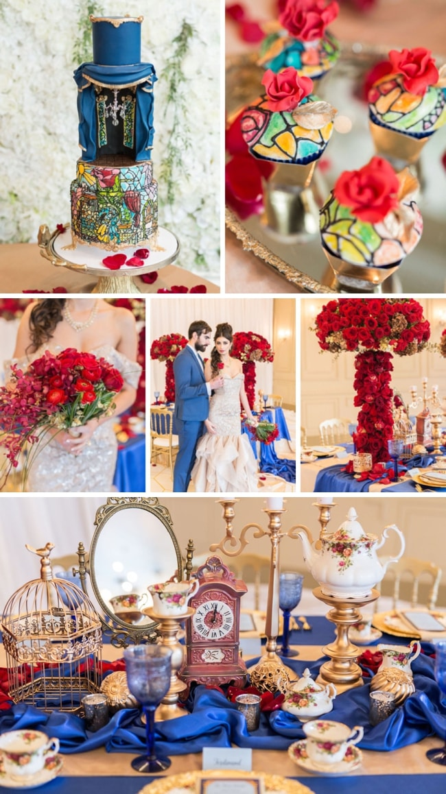 Beauty & the Beast Modern Luxe Wedding Inspiration by Sparrow Photography | SouthBound Bride
