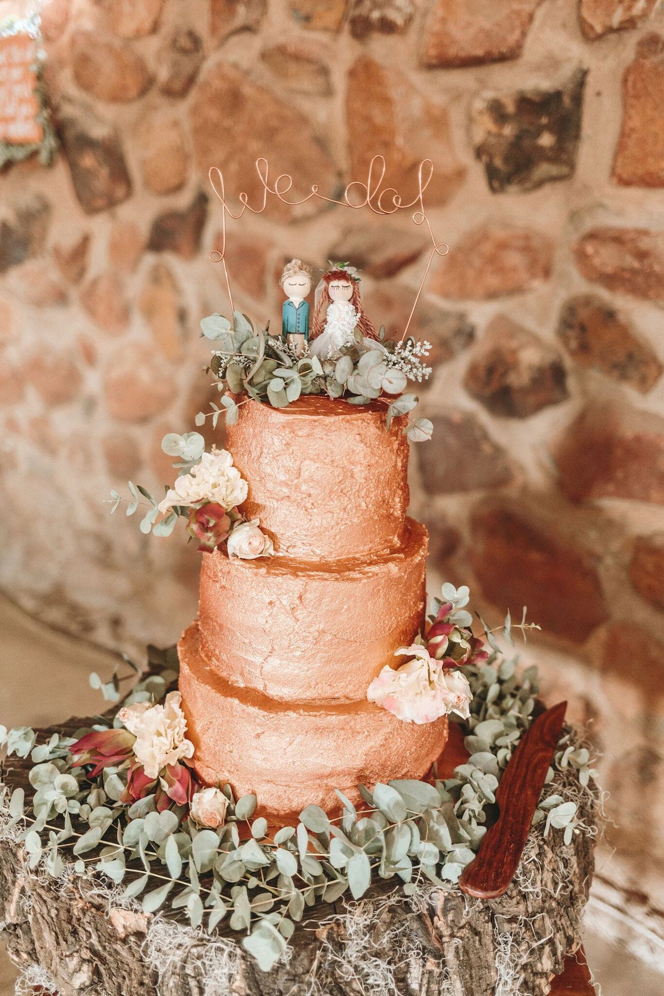 Gold Love Wedding Cake Toppers