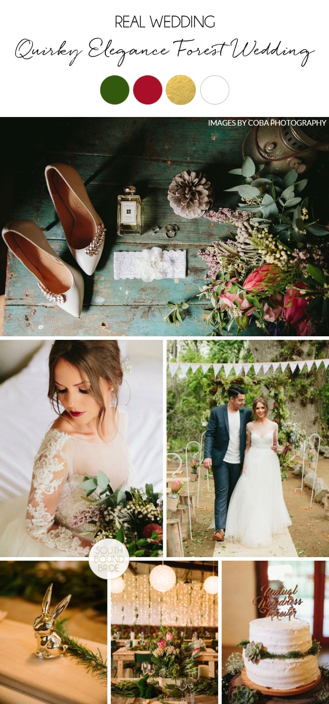 Quirky Elegance Forest Wedding by Coba Photography | SouthBound Bride
