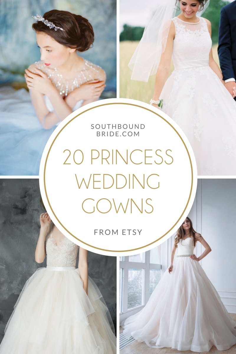 20 Fairytale Princess Wedding Gowns from Etsy | SouthBound Bride