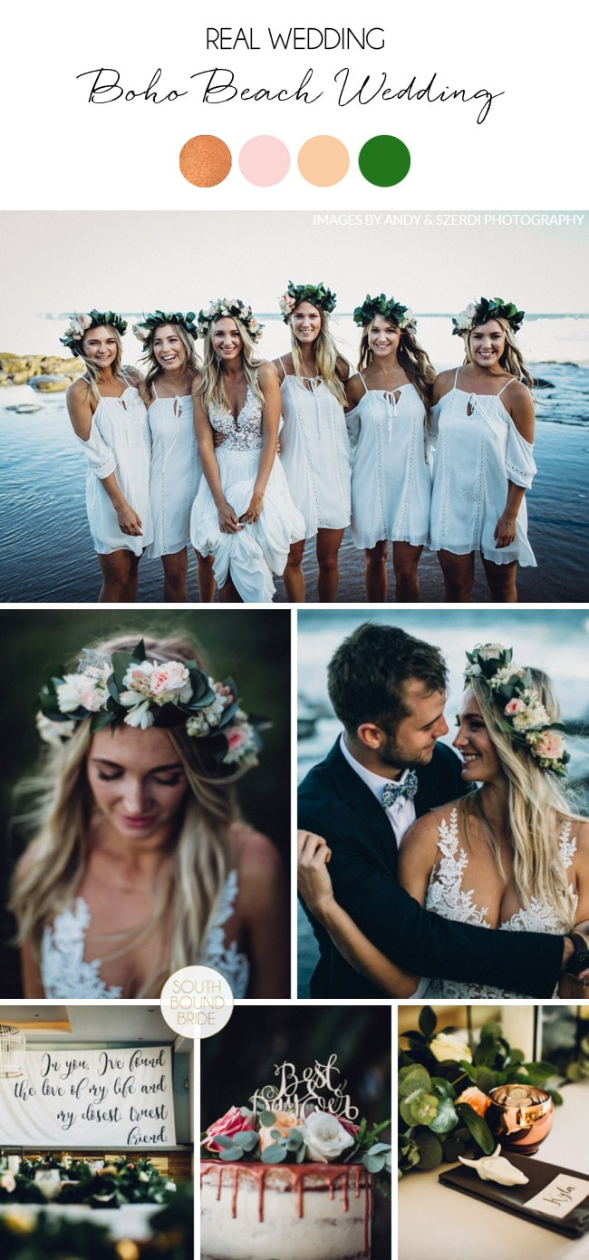 Boho Beach Wedding by Andy & Szerdi Photography | SouthBound Bride