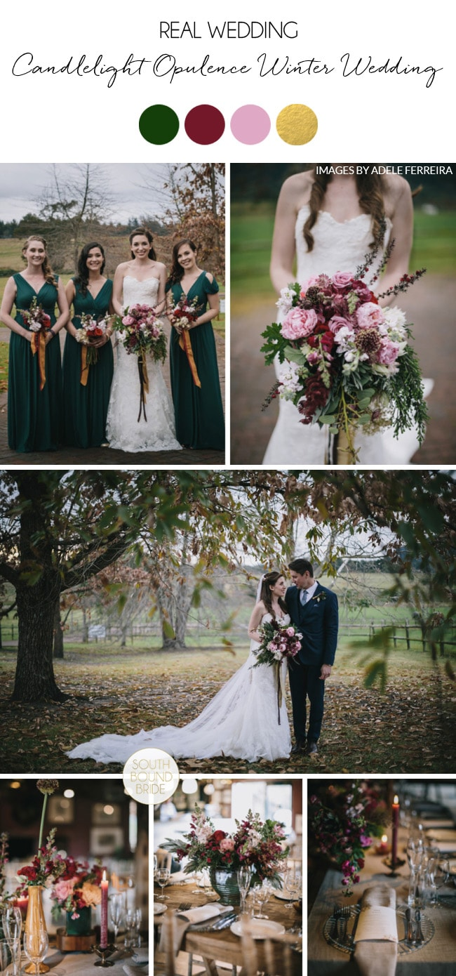 Candlelight Opulence Winter Wedding by Adel Ferreira | SouthBound Bride