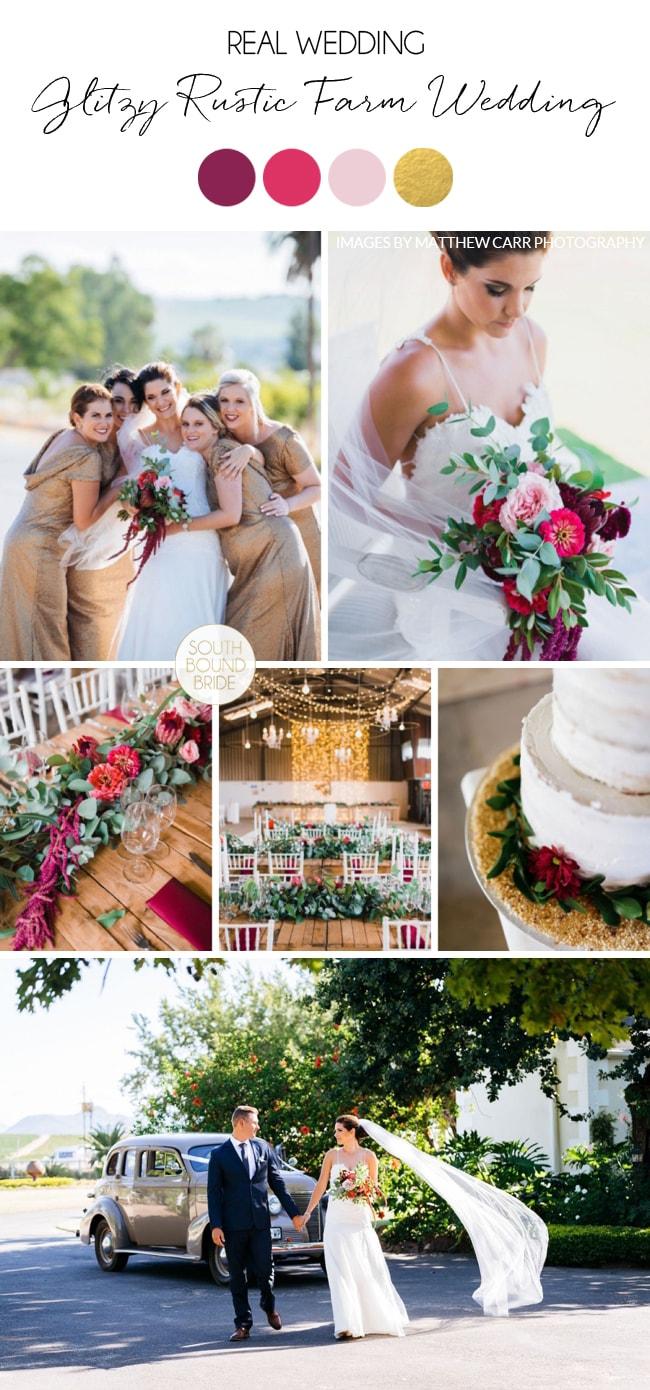 Glitzy Rustic Farm Wedding by Matthew Carr | SouthBound Bride