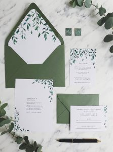 printable greenery wedding invitation