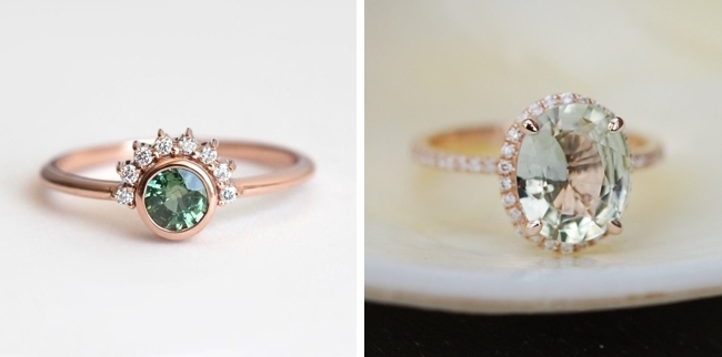 20 Green Engagement Rings From Etsy