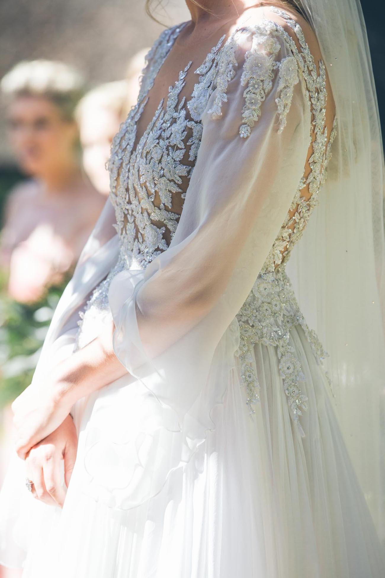 Zuhair Murad Lace Wedding Gown | Credit: Shanna Jones