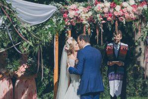 Floral Wedding Arch | Credit: Shanna Jones