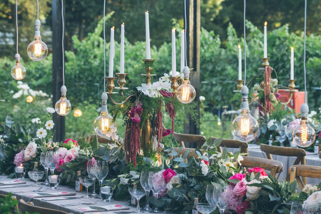 Midsummer Nights Dream Wedding Decor | Credit: Shanna Jones