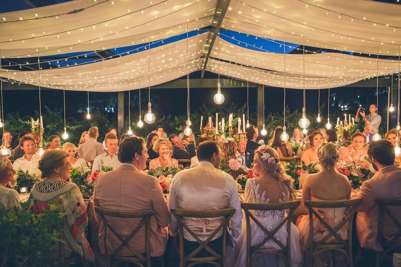 Magical Midsummer Vineyard Wedding Reception at Molenvliet | Credit: Shanna Jones