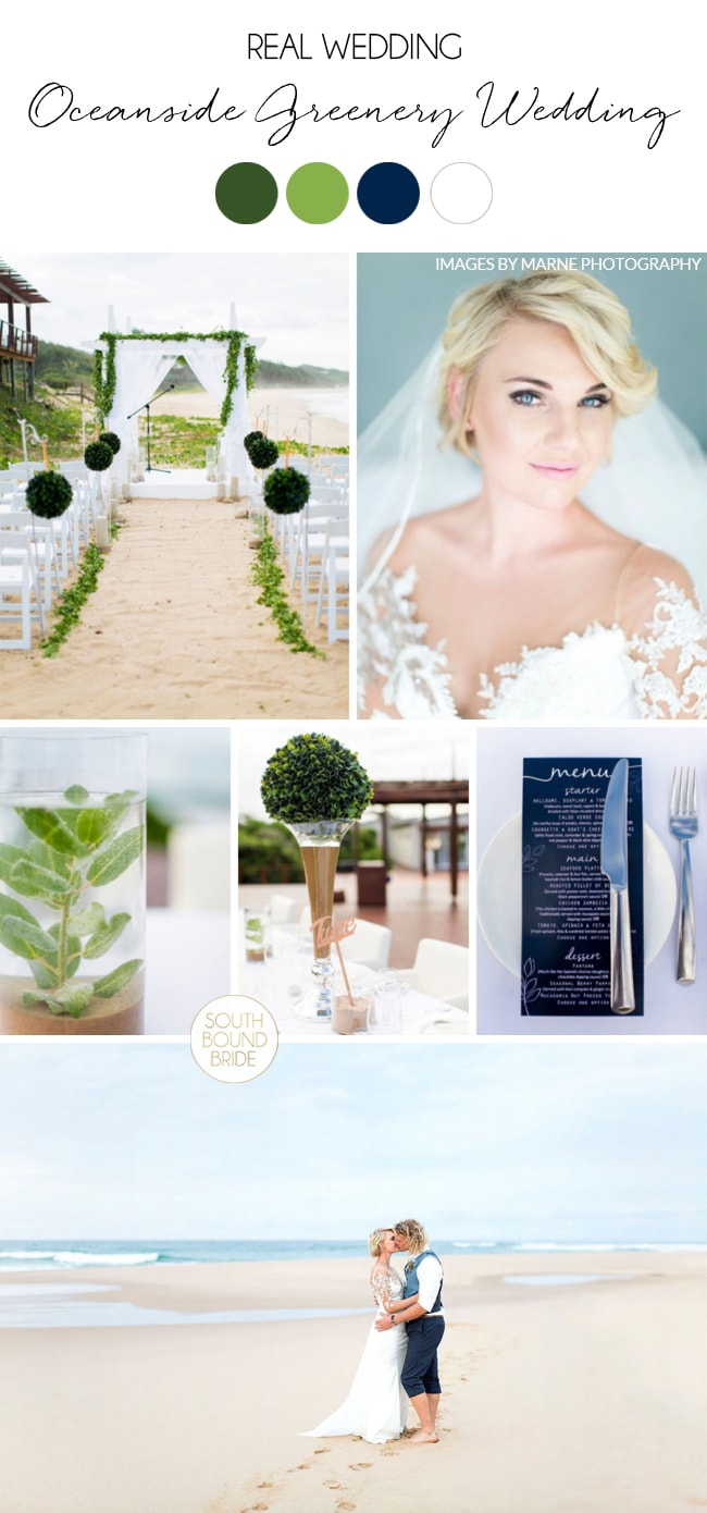 Oceanside Greenery Wedding in Mozambique by Marne Photography | SouthBound Bride