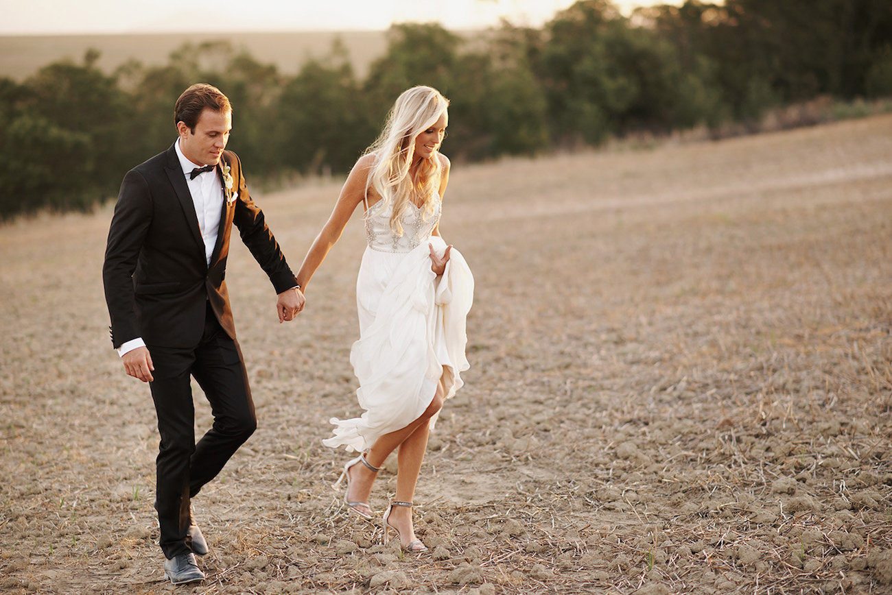 Black Tie Bride and Groom | Image: Knit Together Photography