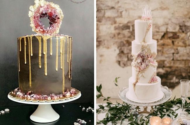 20 Geode Amp Crystal Wedding Cakes Southbound Bride