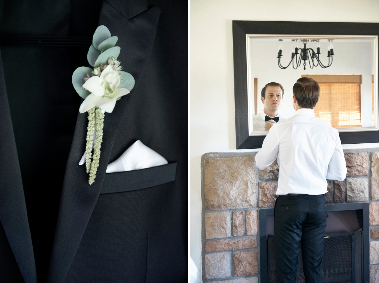 Green Boutonniere | Image: Knit Together Photography