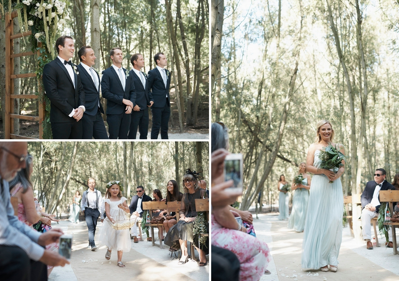 Forest Wedding Ceremony | Image: Knit Together Photography