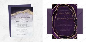Marble & Geode Wedding Invitations